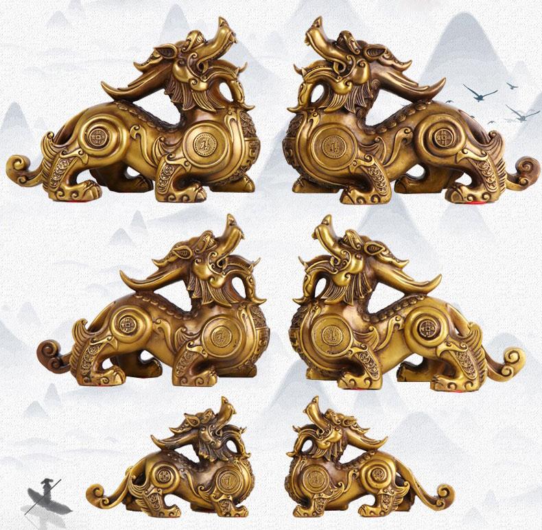 Tượng tỳ hưu phong thủy bằng đồng tại Ladora.com.vn