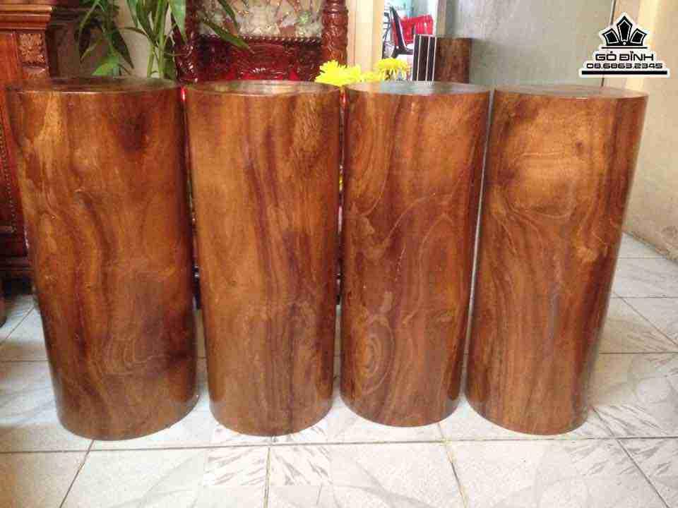 Đôn trụ nguyên khối gỗ
