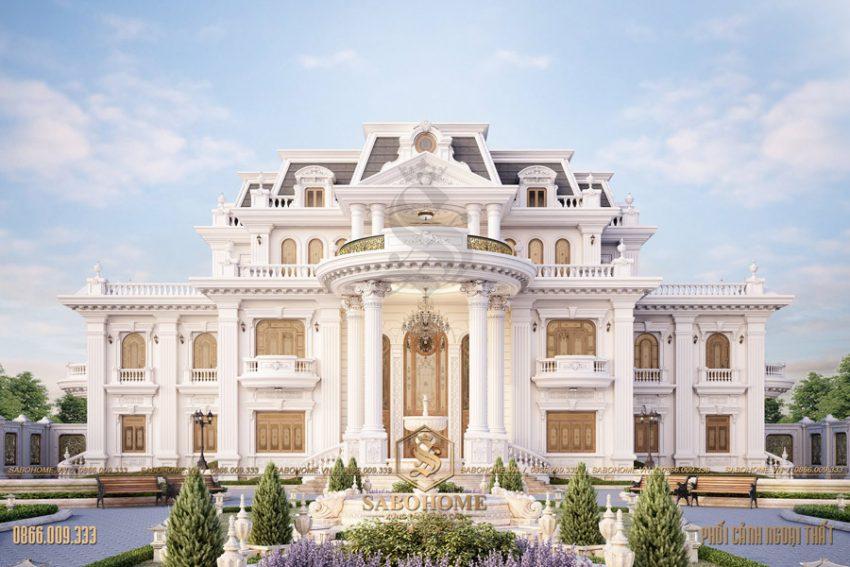 Lau dai dinh thự 3 tầng đẹp ở khánh hòa